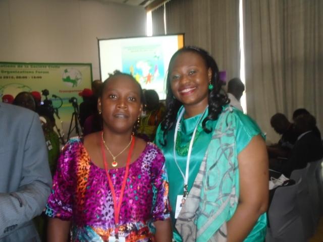 Avec Djenabou BAH, Chargée des questions genre et femmes du CNOSCG (Conseil National des Organisations de la Société Civile Guinéenne)