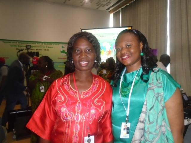 Avec Mme Pulcherie NZE NDONG, Coordinatrice Générale de l'ONG HADASSA (GABON)