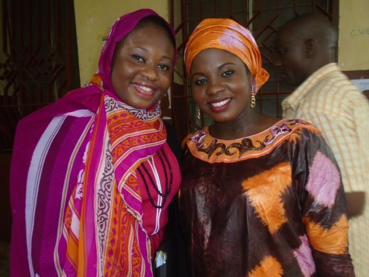 La Présidente de l'ONG FEDEP et celle de l'ONG ELITES DE VIE