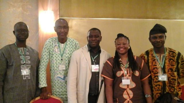 La Présidente de l'ONG FEDEP avec des ONGs soeurs du Mali, du Sénégal du Nigéria