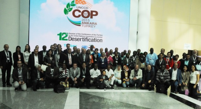CSO Group photo at unccd cop 12