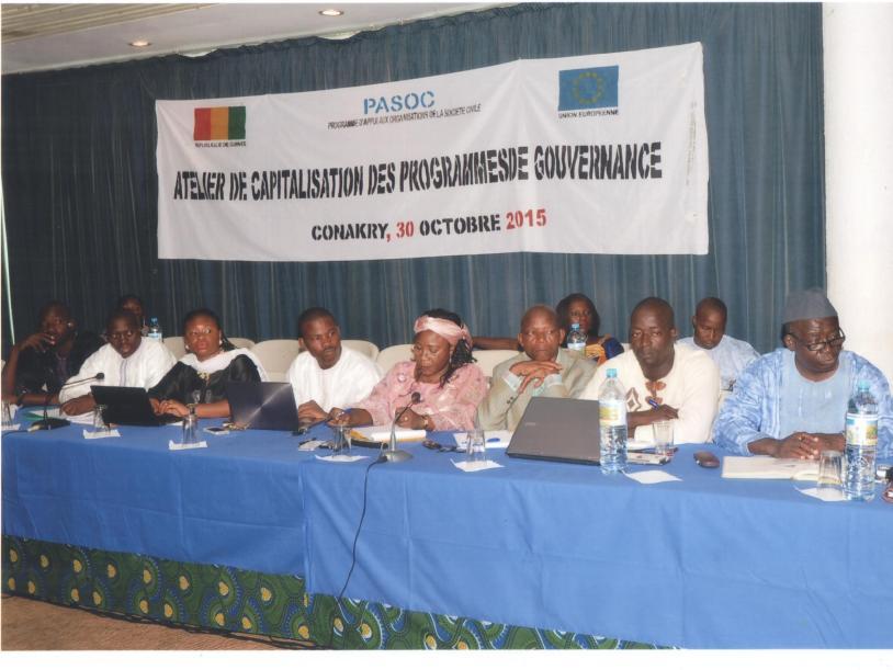 Atelier de Capitalisation des Porgrammes de Gouvernance-PASOC